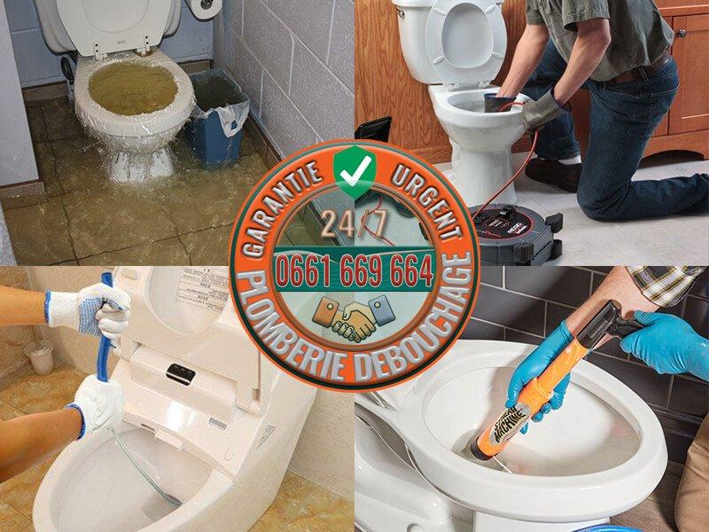 Plomberie débouchage canalisation WC/Toilettes bouchées